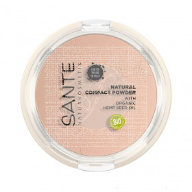 Maquillaje Natural Compact Powder 01 Cool Ivory Sante