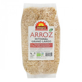 Arroz largo integral Bio 1Kg Biogra