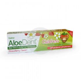 Dentífrico Aloedent para niños sabor fresa Optima