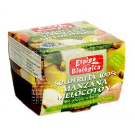 Compota de Manzana y Melocoton Bio sin azúcar Espiga Bio