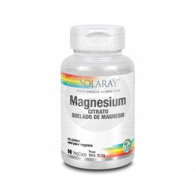 Magnesium Citrato Quelado De Magnesio 90 capsulas Solaray