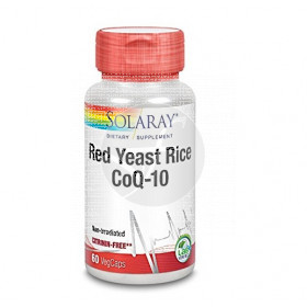 RED YEAST RICE COQ10 COLESTEROL 60 CAPSULAS SOLARAY