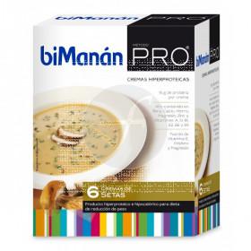 Crema Proteinas Setas 6 sobres Bimanan Pro