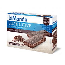 Barritas Sustitutivas Chocolate Fondant Bimanan