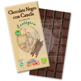 CHOCOLATE NEGRO BIO 56 CON CANELA CHOCOLATES SOLE