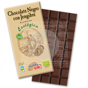 CHOCOLATE NEGRO 56 CON JENGIBRE ECO CHOCOLATES SOLE