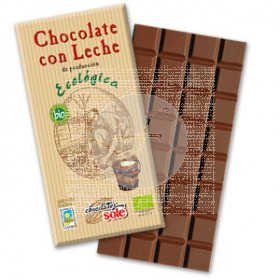 CHOCOLATE CON LECHE ECOLOGICO CHOCOLATES SOLE