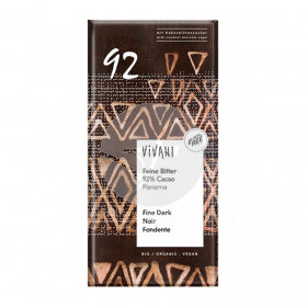 Chocolate Negro 92% Cacao Bio Vivani