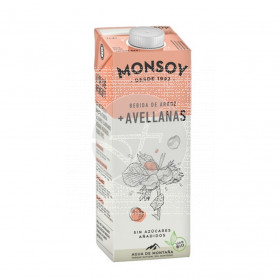 Bebida Vegetal De Arroz con Avellanas Bio 1Lt Monsoy