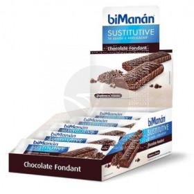 Barrita Sustitutiva Chocolate Fondant con Expositor Bimanan