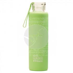 Botella de vidrio BBO verde Irisana