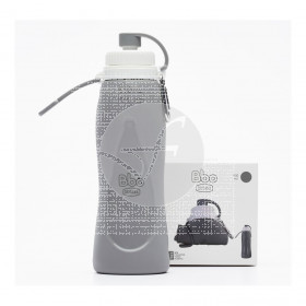 Botella Plegable Bbo Gris 500ml Irisana