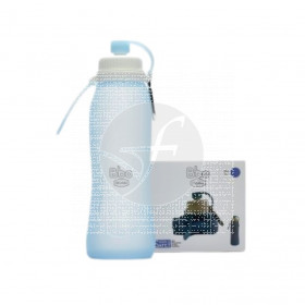 Botella Plegable Bbo Azul 500ml Irisana