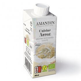 Crema Leche de Arroz para cocinar Amandin