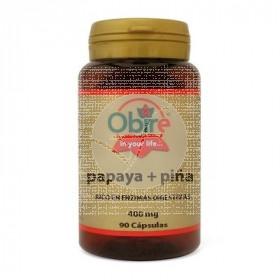 Papaya+Piña 400Mg Obire