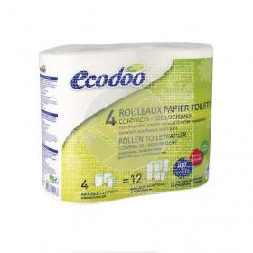 Papel higienico compacto 100% 4 uds Ecodoo