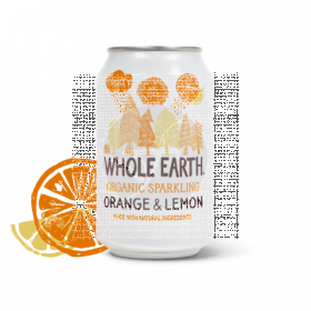 Refresco Bio de naranja y limón Whole Earth