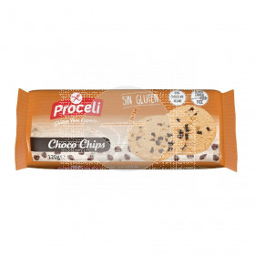 Galletas Choco Chips sin gluten Proceli
