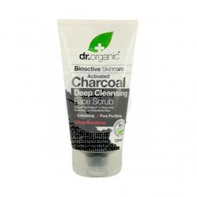 Exfoliante facial carbón Activo biológico 125 ml dr. Organic