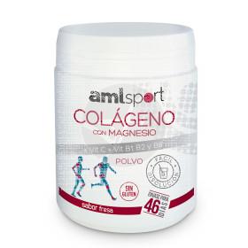 Colageno con Magnesio + Vit C + B1 B2 y B6 polvo sabor Fresa Amlsport