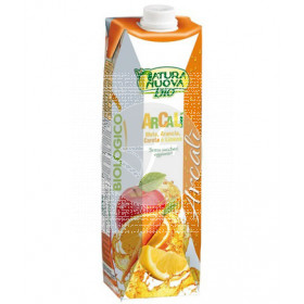 Zumo Brick De Manzana, Naranja, Zanahoria y Limon Bio sin Azucar Natura Nuova