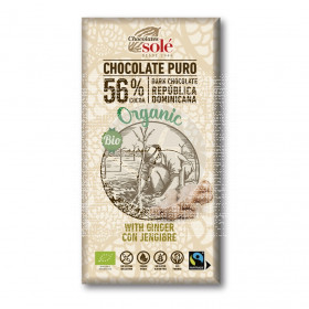 Chocolate Negro con Jengibre Eco Chocolates Sole
