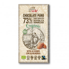 Chocolate Negro 73% con Almendras Eco Chocolates Solé
