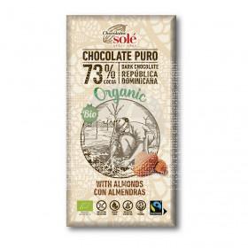 Chocolate Negro 73% con Almendras Eco Chocolates Solé