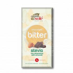 Chocolate Bitter con Almendras y Stevia 72% Cacao Chocolates Solé