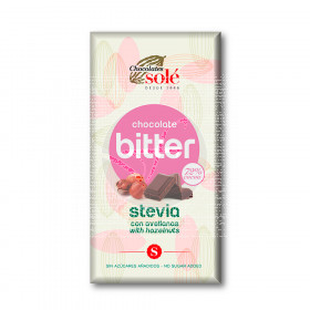 Chocolate Bitter con Avellanas y Stevia 72% Cacao Chocolates Sole