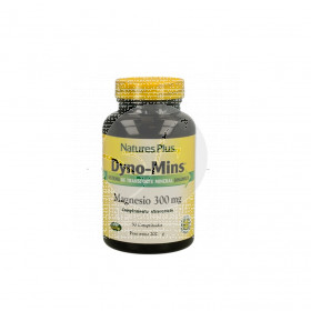 Dyno Mins Magnesio 90 comp. 300 mg Sin gluten Natures Plus