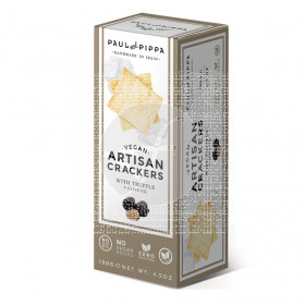 Artisan crackers con truja vegan Paul & Pippa