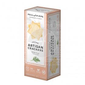 Artisan Crackers con Eneldo Vegan Paul & Pippa