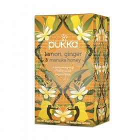 Infusión jengibre limón y miel de Manuka Bio Pukka