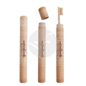 Estuche de cepillo dental de bambú Eco biodegradable Naturbrush
