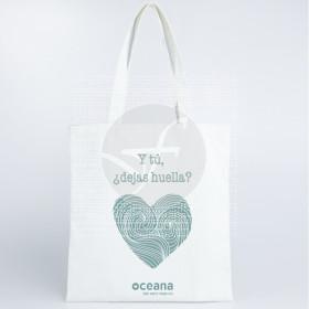 Bolsa de algodón deja huella 38x42cm eco vegano zero waste Oceana
