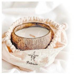 Vela de coco con bolsa 8-10cms Packawin