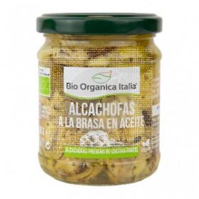 Alcachofas a la brasa en aceite 190gr Bio Organica Italia