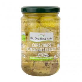 Corazones de alcachofas en aceite 280gr Bio Organica Italia