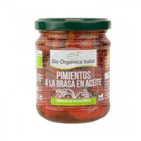 Pimiento Brasa Aceite Bio 190gr Bio Organica Italia