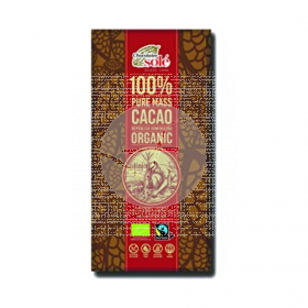 Chocoloate Negro 100% Cacao Eco Chocolates Sole