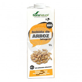 Bebida Vegetal De Arroz integral Eco 1L Soria Natural