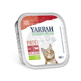 Paté para gato de Ternera y Pollo Bio 100gr Yarrah