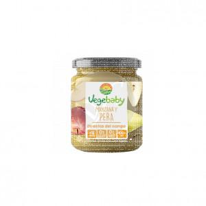 Potito de manzana y pera Sin Gluten Eco 190gr Vegebaby