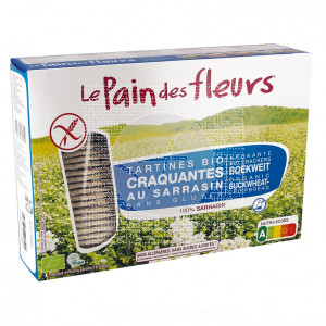 Tostadas trigo sarraceno sin sal bio vegano sin gluten 300g Le Pain Des Fleurs