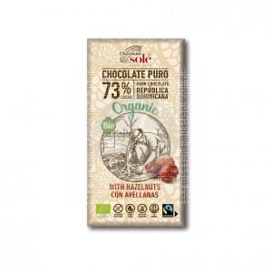 Chocolate Negro 73% con Avellanas Bio 150grs Chocolates Sole