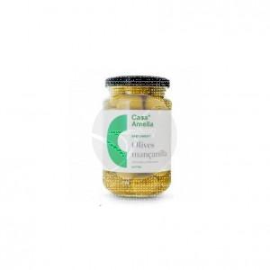 Aceituna Manzanilla Verde con Hueso Vegano 390grs Casa Amella