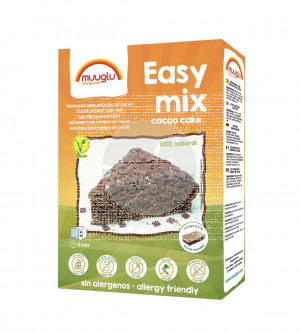 Easy Mix Preparado Para Bizcocho De Cacao sin gluten Vegano Muuglu