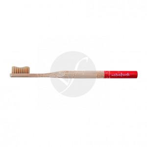 Cepillo dental de bambú adulto rojo Eco biodegradable Naturbrush
