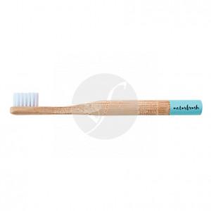 Cepillo dental de bambú niños azul Eco Naturbrush